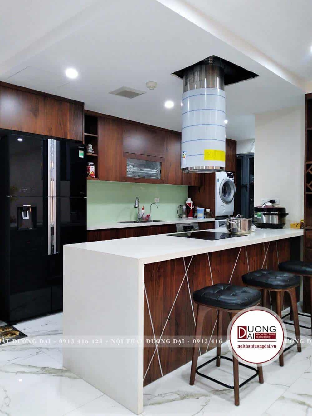 Tủ bếp có chức năng thông minh và tiện lợi
