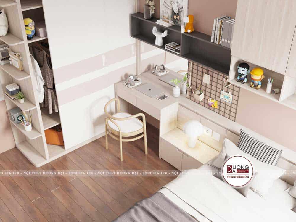 Thiết kế phòng ngủ bé gái đầy dễ thương