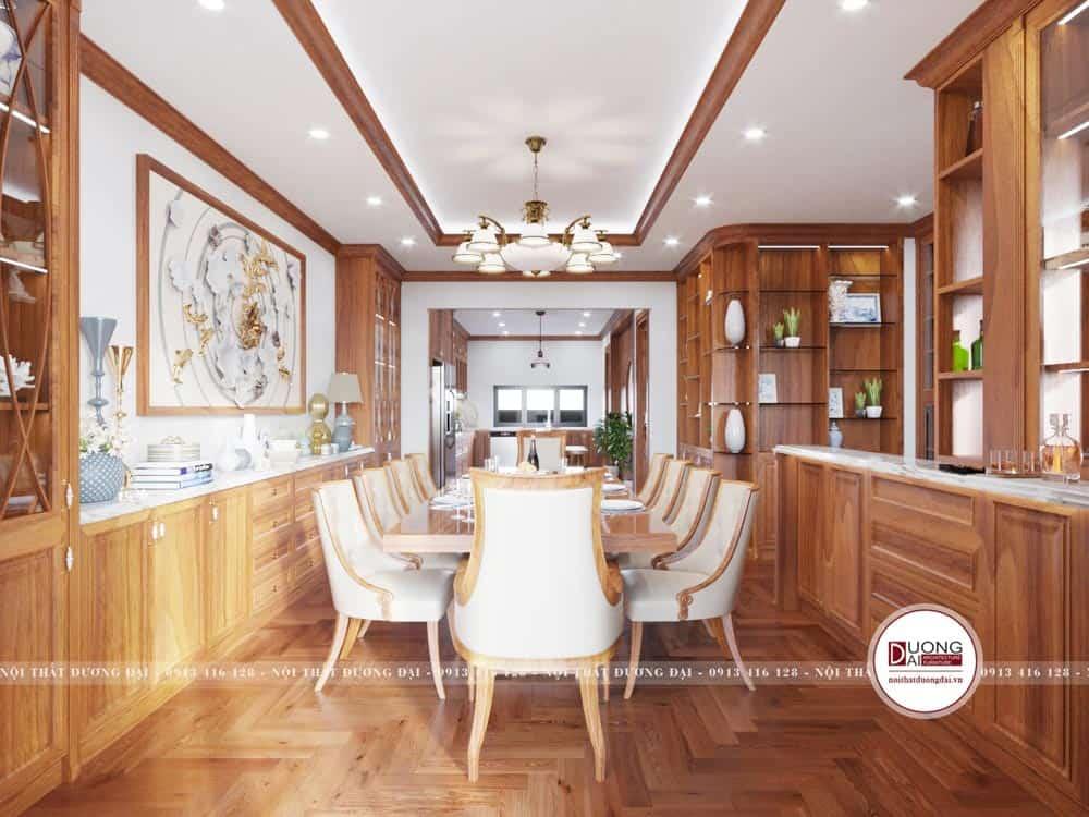 Kệ trang trí và tủ rượu gỗ hương siêu xa hoa và lộng lẫy