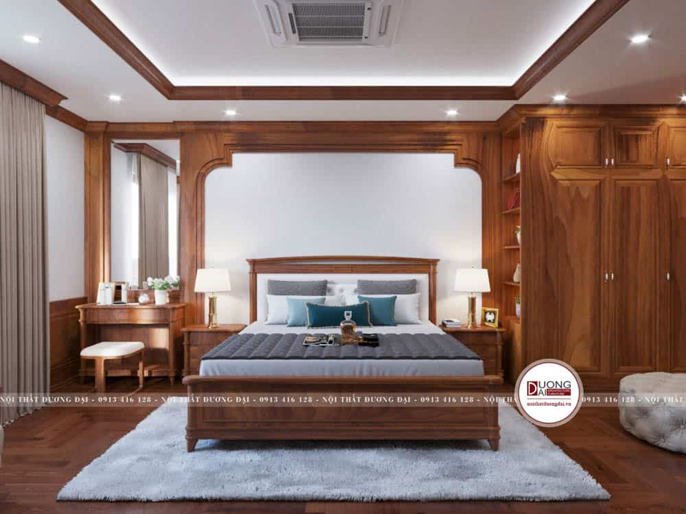 Phòng ngủ Master siêu sang trọng với phong cách tân cổ điển