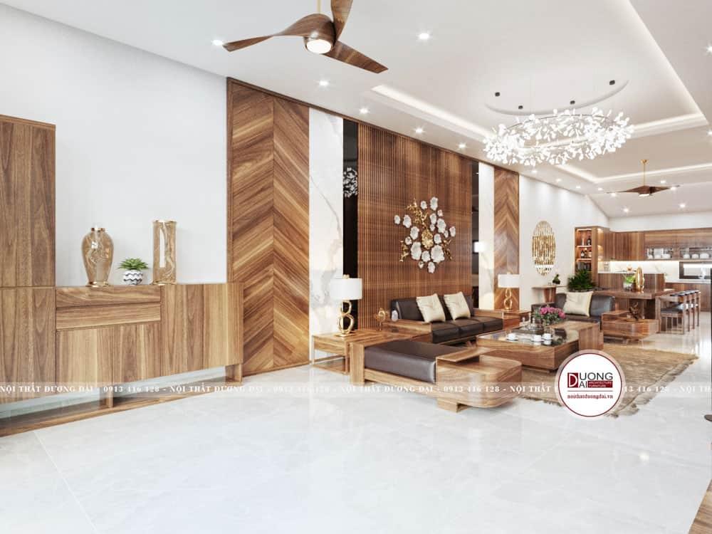 Thiết kế tủ giày và sofa phòng khách ấn tượng và đẳng cấp