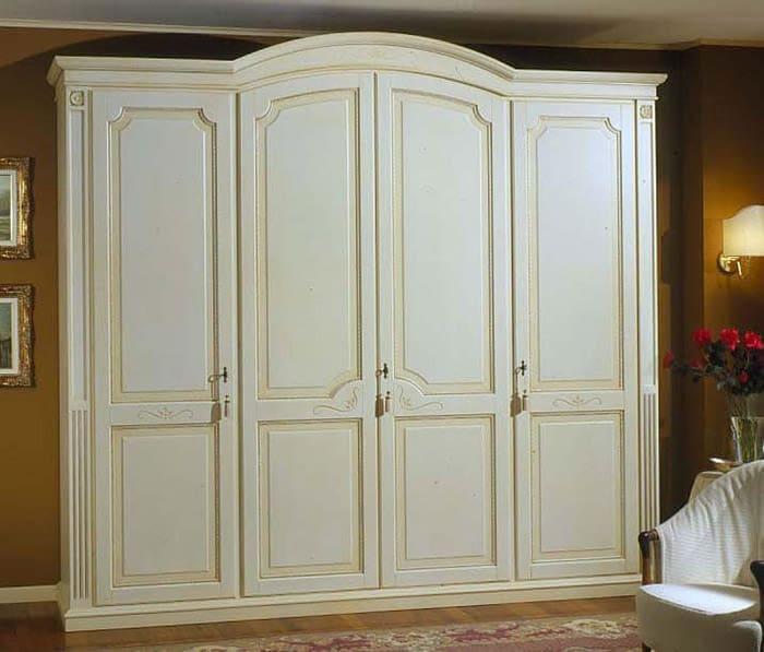 Thiết kế đơn giản, trang nhã của mẫu tủ màu trắng giúp phòng ngủ thêm thư giãn