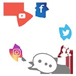 Icon kênh truyền thông hỗ trợ khách hàng.
