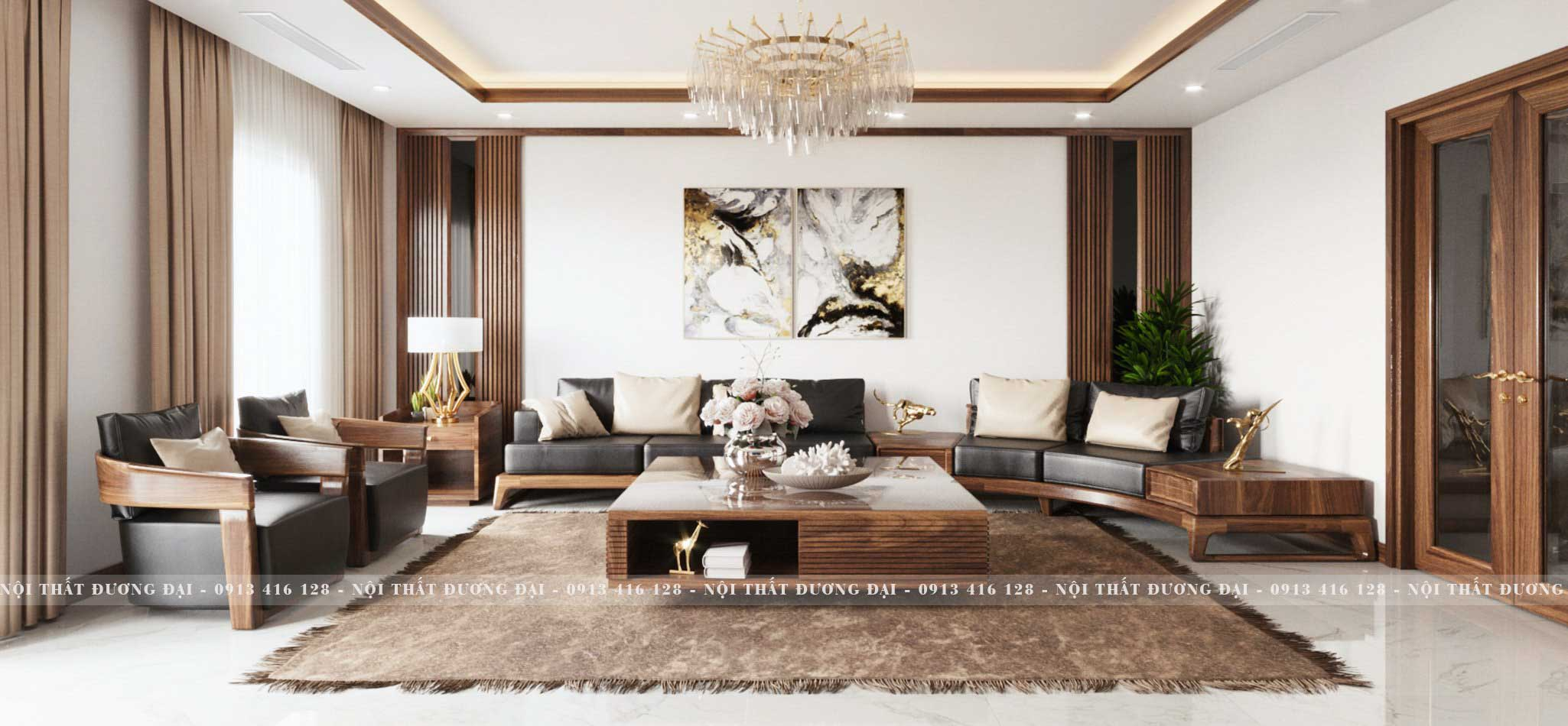 Nội Thất Đương Đại là công ty chuyên thiết kế nội thất, thi công và sản xuất nội thất gỗ óc chó.