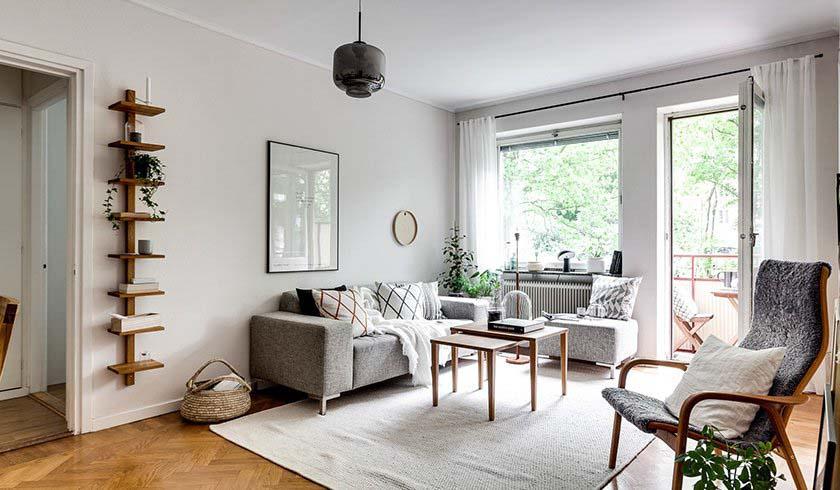 Phong cách Bắc Âu tạo cho không gian những nét rất giản dị, ấm áp.