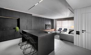 Nội thất trắng đen đặc trưng cho phong cách hiện đại