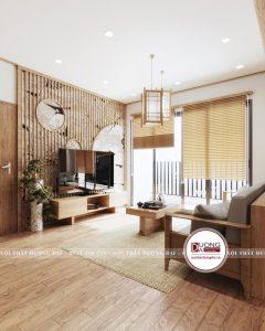 Không gian phòng khách theo phong cách Nhật Bản